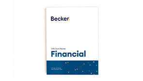 The Becker Financial textbook is your guide for understanding the Financial part of the CPA Exam.